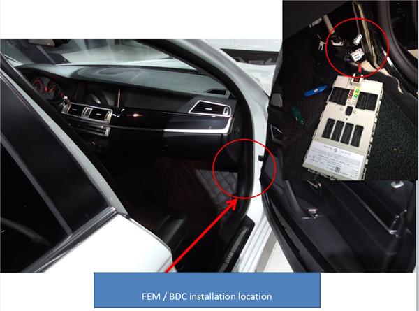 BMW FEM BDC Dismantlingkey Learning Location-1