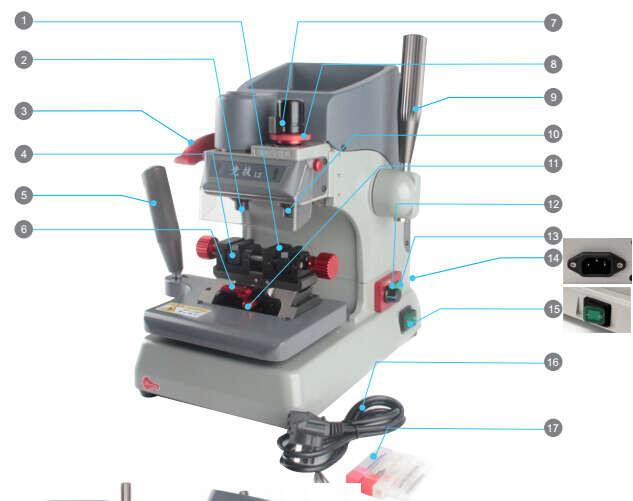 JINGJI L2 Vertical Key Cutting Machine-1