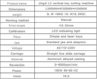 JINGJI L2 Vertical Key Cutting Machine-2